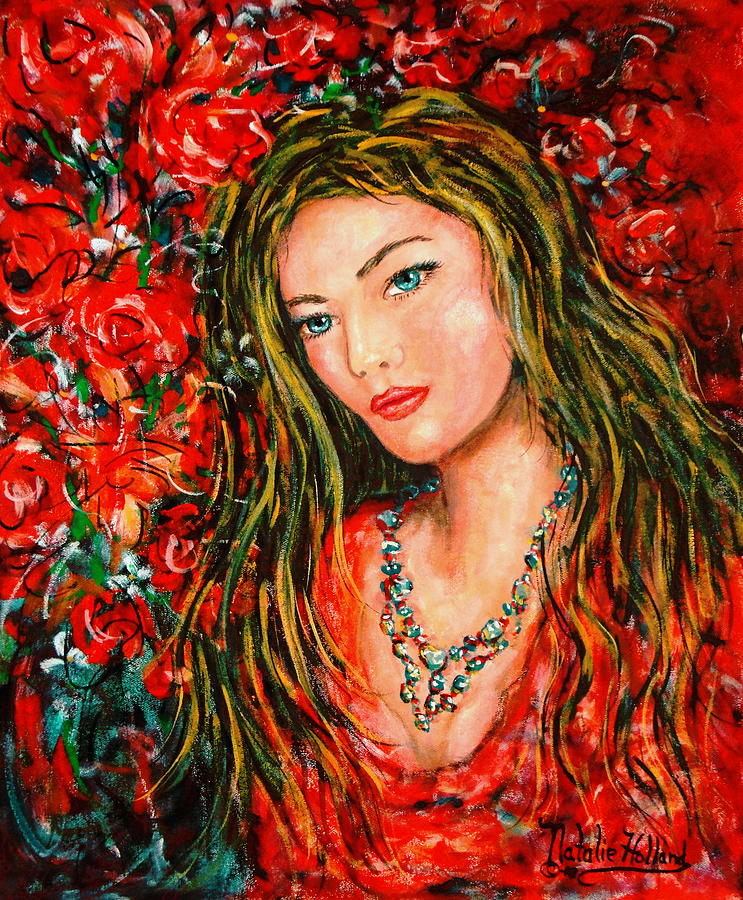Love Painting - Red Roses by Natalie Holland