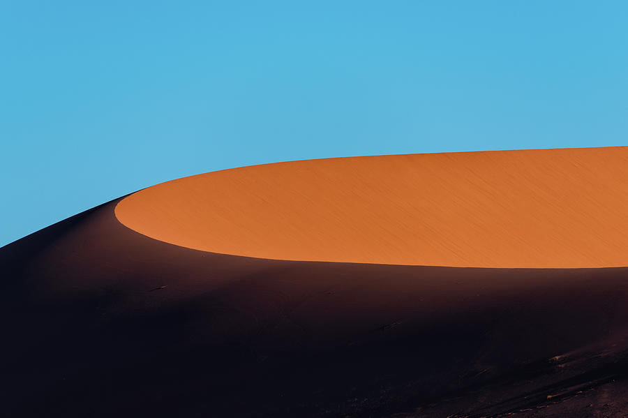 Red Sand Dune And Blue Sky, Namibia Photograph by Paranyu Pithayarungsarit