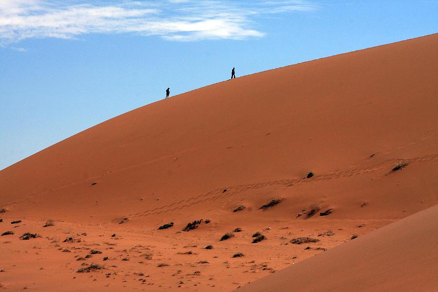 Desert Photograph - Red Sand Dunes by Aidan Moran