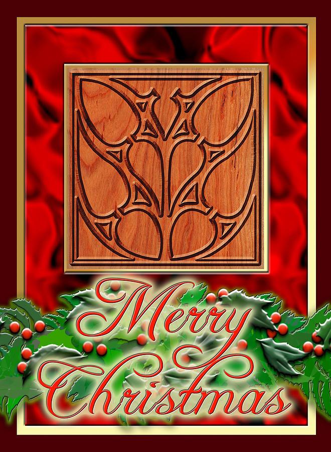 Christmas Digital Art - Red Satin Christmas by Melissa A Benson