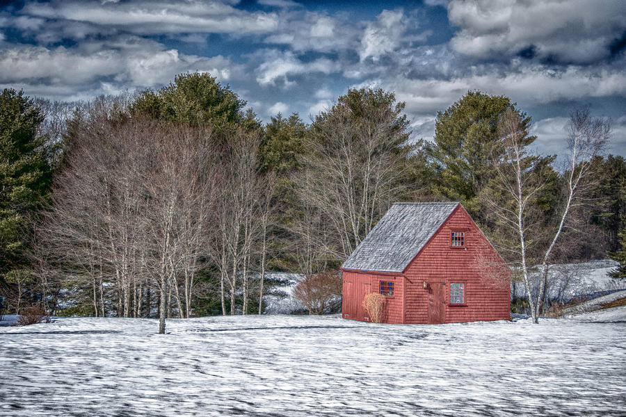 Buildings Photograph - Red Shed In Maine by Guy Whiteley