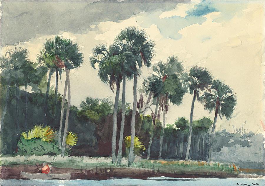 Winslow Homer Painting - Red Shirt Homosassa Florida  by Winslow Homer