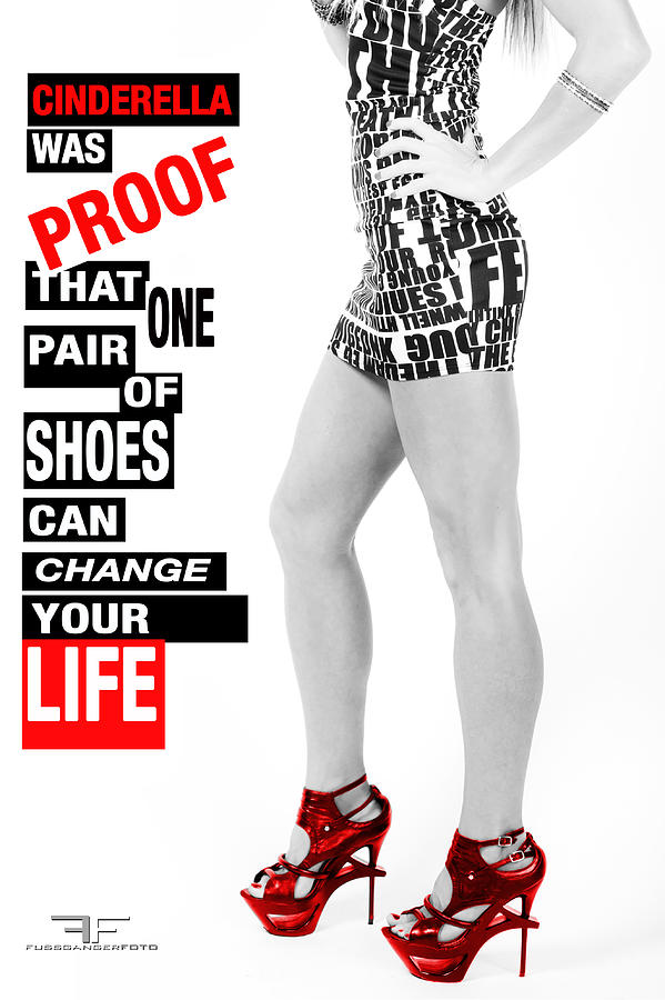 High Heels Photograph - Red Shoes by Fussgangerfoto