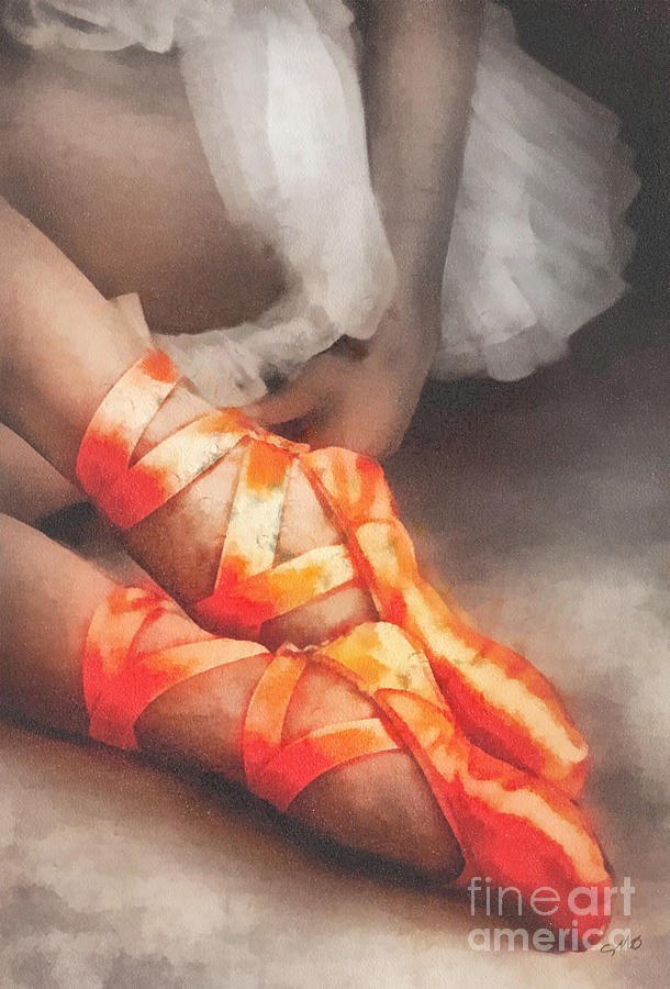 Red Shoes Painting - Red Shoes by Mo T