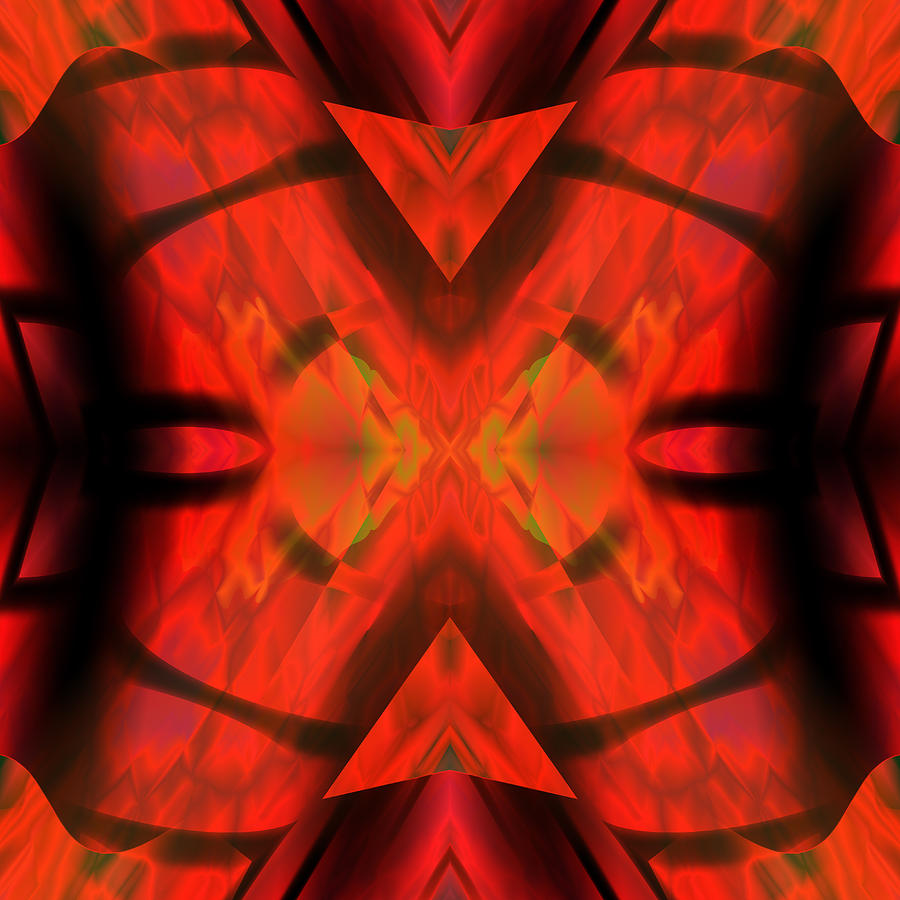Red Silk Digital Art