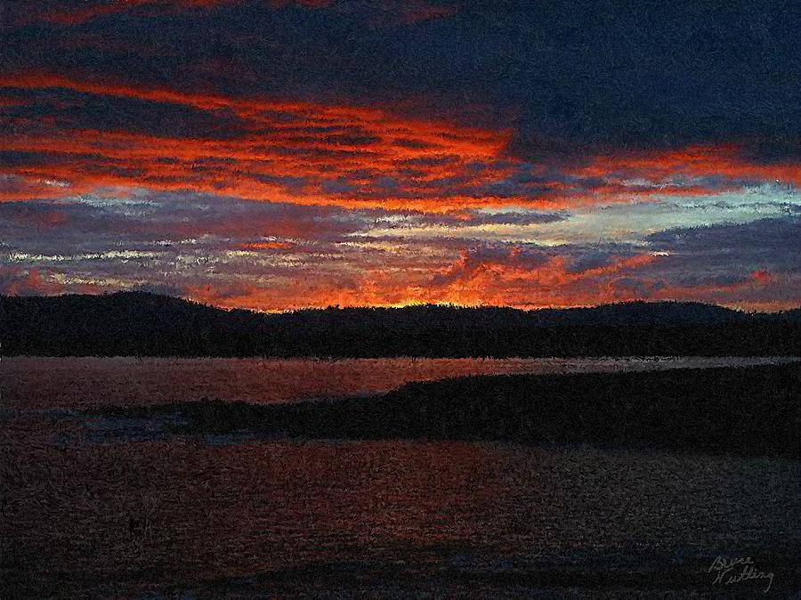 Sunset Painting - Red Sky At Night by Bruce Nutting