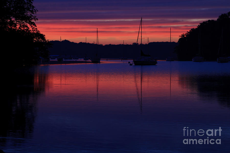 Red Sky Photograph - Red Sky At Night by Dennis Hedberg