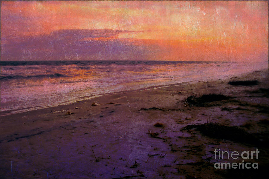 Seascape Photograph - Red Sky At Night by Judi Bagwell