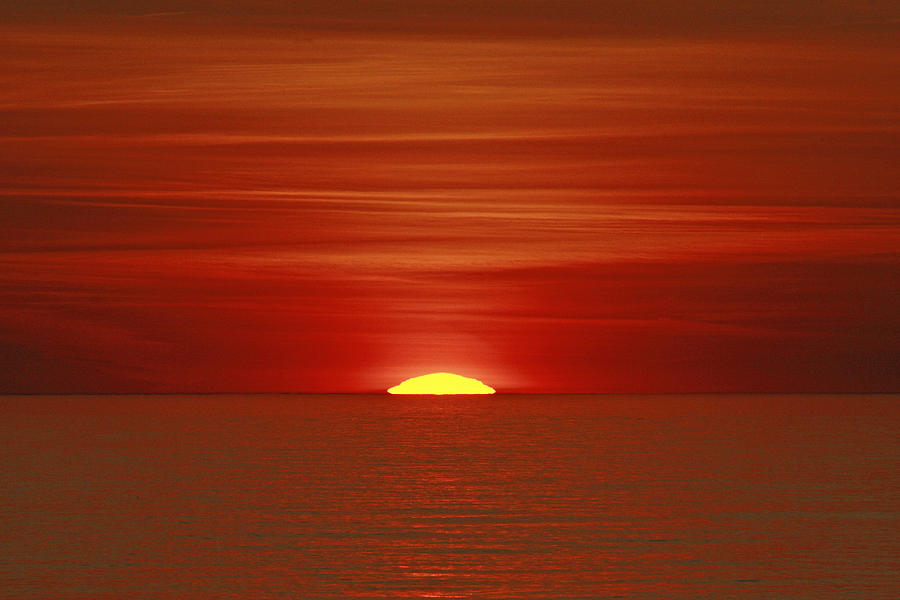 Sunset Photograph - Red Sky At Night by Michael Allen