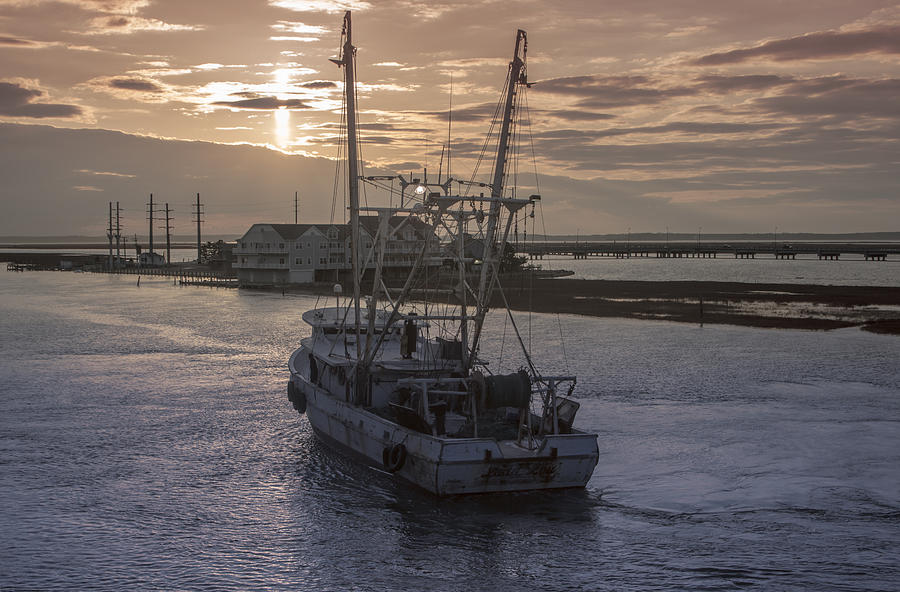 Fishing Boat Photograph - Red Sky At Night by Photographic Arts And Design Studio