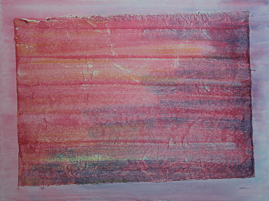 Abstract Painting Painting - Red Sky At Night Sailors Delight by Asha Carolyn Young