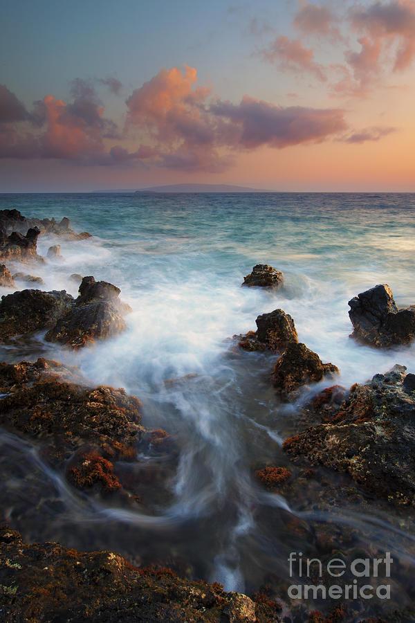 Maui Photograph - Red Sky Over Kahoolawe . .  by Mike  Dawson