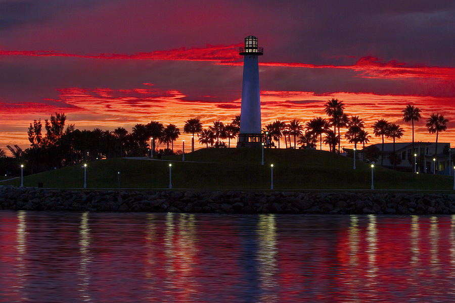 Long Beach Ca Photograph - Red Skys At Night Denise Dube Photography by Denise Dube