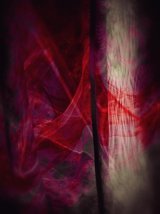 Modern Photograph - Red Smoke by Dennis James