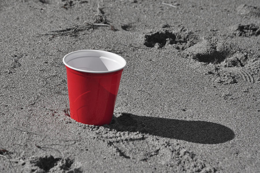 Red Solo Cup Mixed Media - Red Solo Cup by Trish Tritz