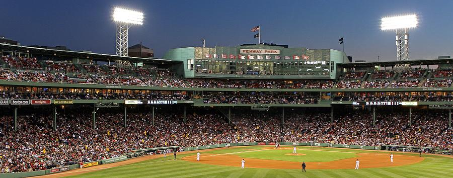 Ballpark Photograph - Red Sox And Fenway Park  by Juergen Roth