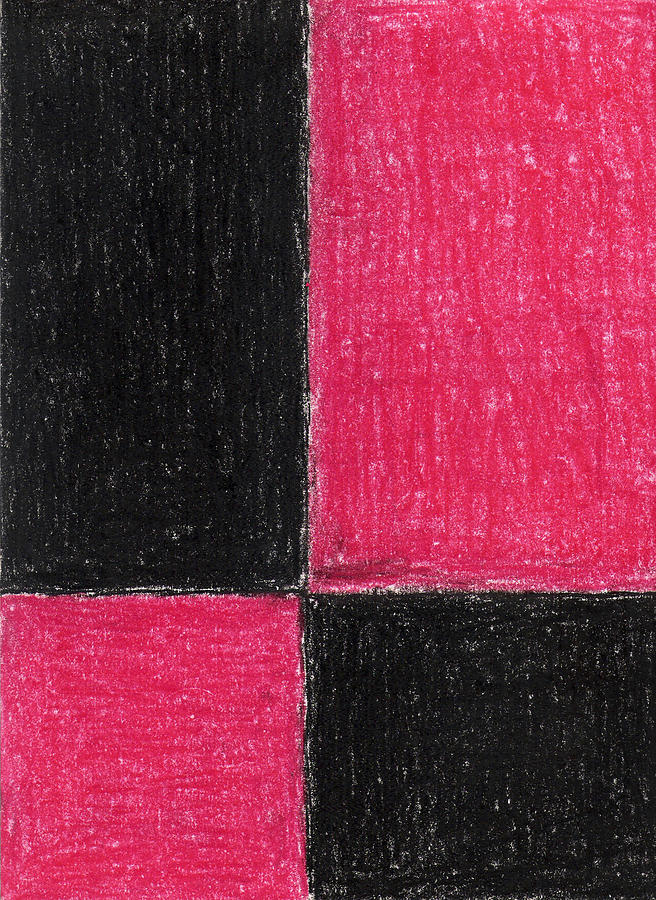 Red Pastel - Red Square by Eric Forster