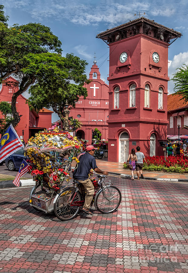 1753 Photograph - Red Square Malacca by Adrian Evans