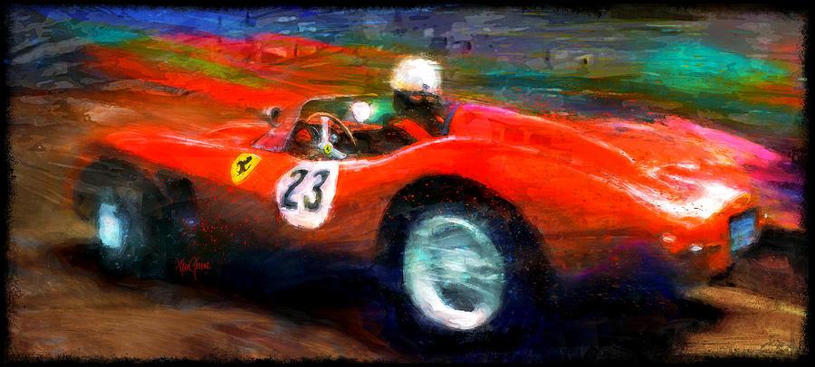 Ferrari Digital Art - Red Stallion by Alan Greene
