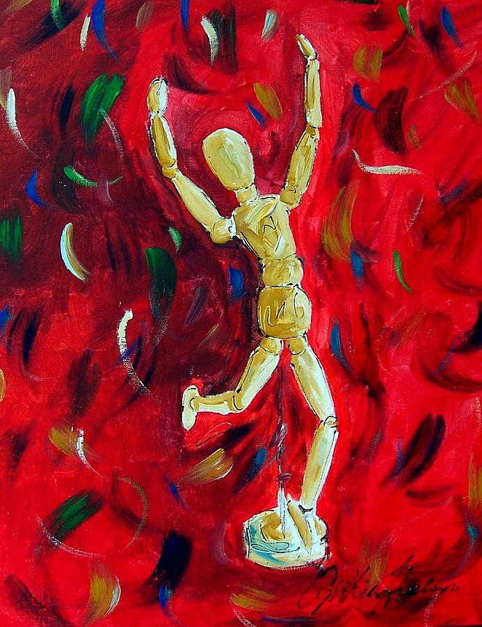 Red Painting - Red Stance by Cynthia Hudson