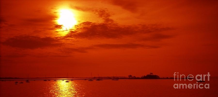 Water Photograph - Red Star Above The Sea by Jay Martin