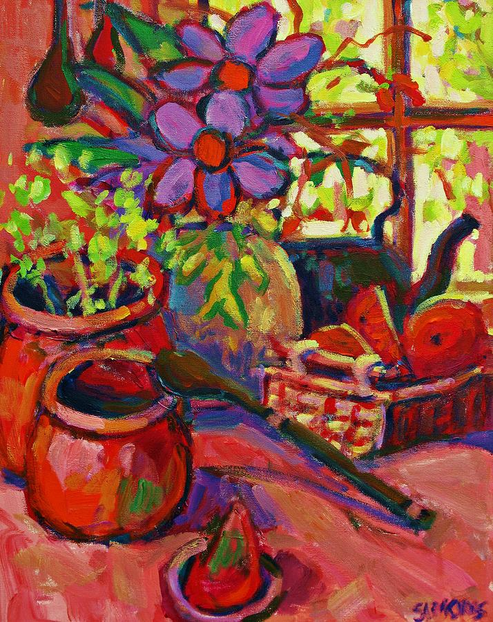 Acrylic Paintings Painting - Red Still Life by Brian Simons