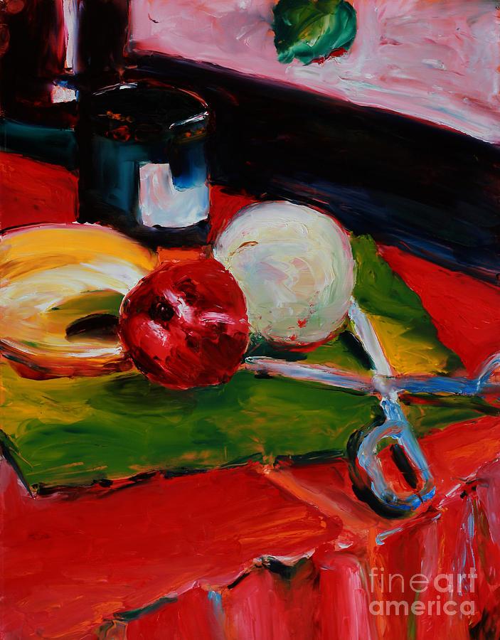 Still Life Painting - Red Still Life by Janet Felts