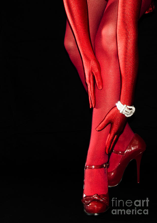 Stockings Photograph - Red Stockings02 by Svetlana Sewell