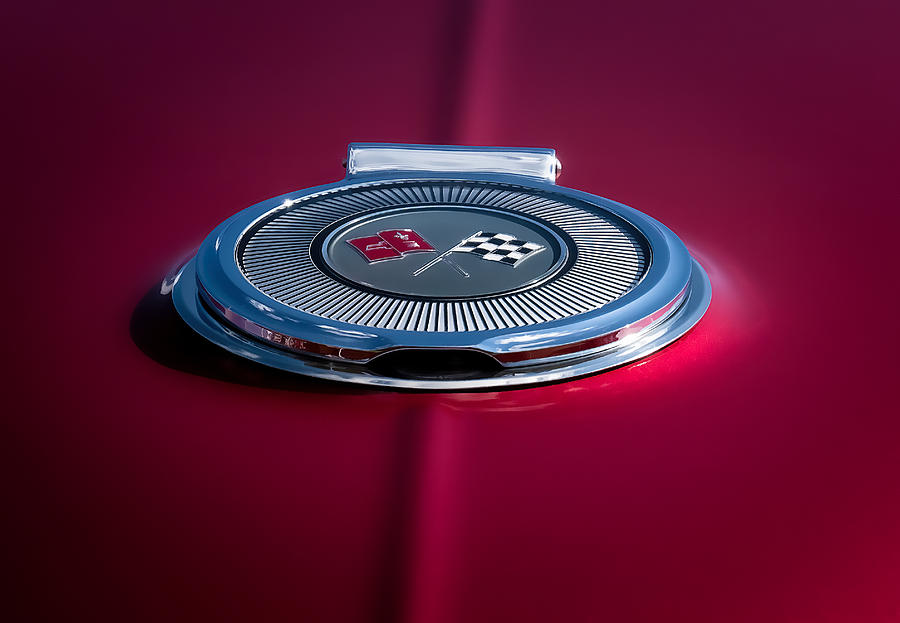 Corvette Digital Art - Red Sunburst by Douglas Pittman