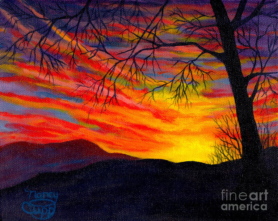 Red Sunset by Nancy Cupp
