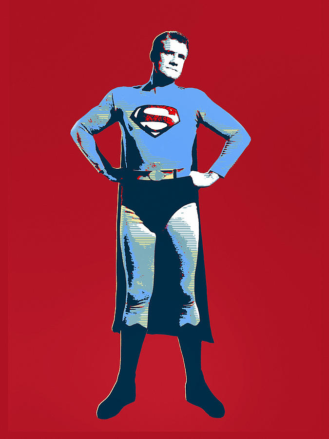 Warhol Mixed Media - Red Superman by Dominic Piperata