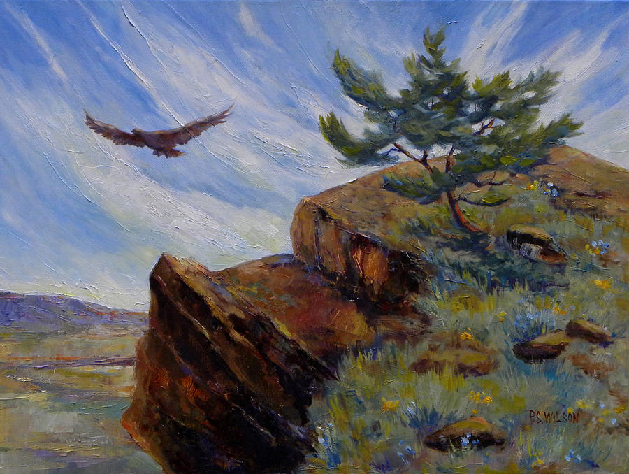 Hawk Painting - Red Tail Hawk by Peggy Wilson