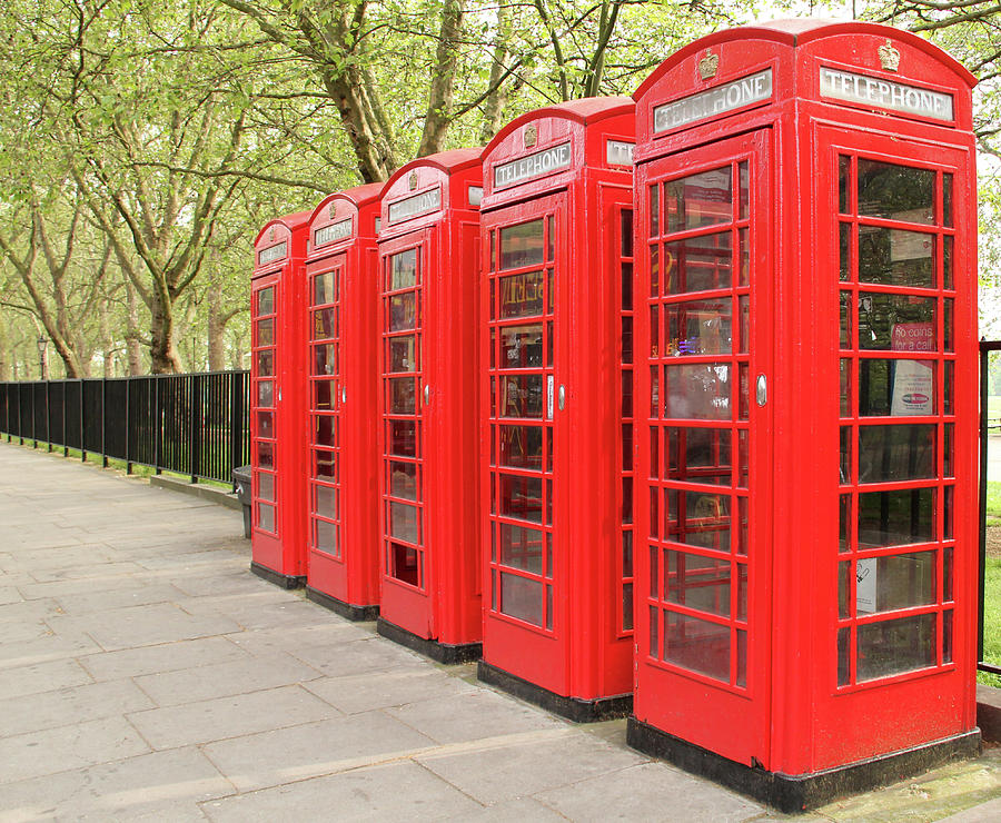 Red Telephone Boxes Photograph by Daniela Duncan