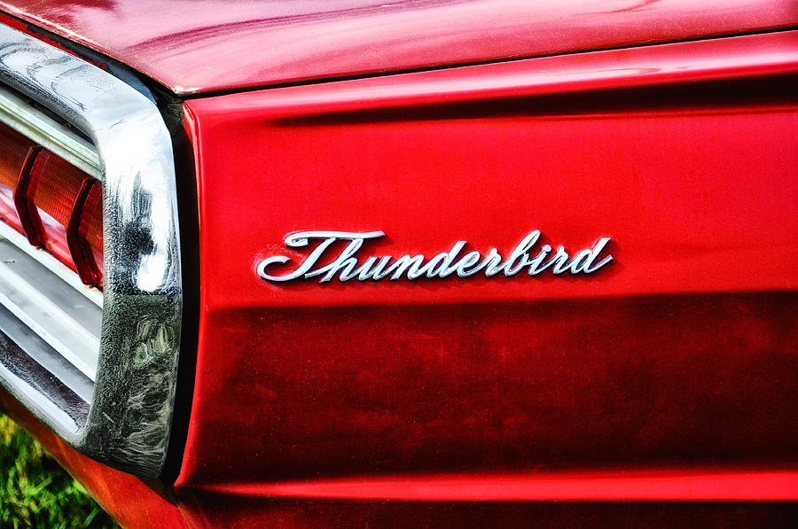Red Thunderbird Photograph - Red Thunderbird by Bill Cannon