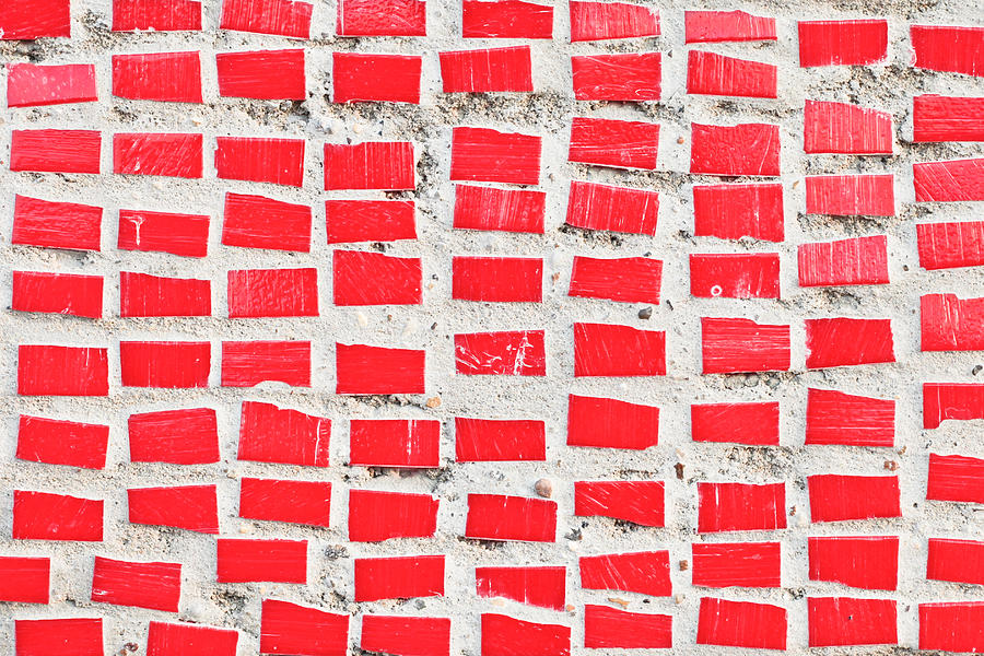 Background Photograph - Red Tiles by Tom Gowanlock