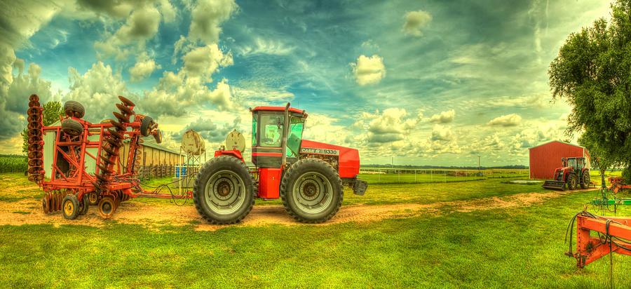 Red Photograph - Red Tractor Farm by  Caleb McGinn