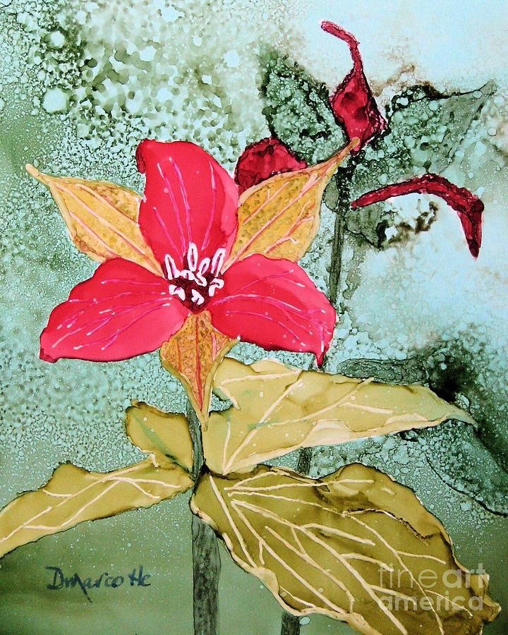 Trillium Painting - Red Trillium by Diane Marcotte