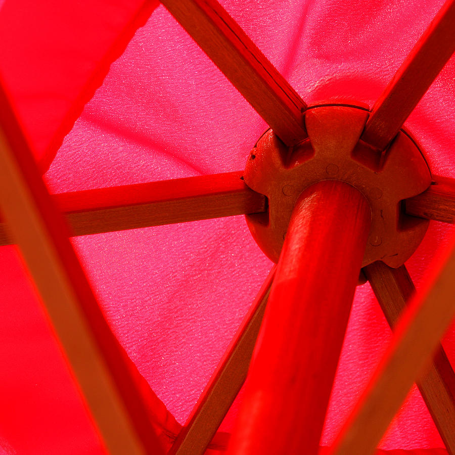Umbrella Photograph - Red Umbrella by Art Block Collections