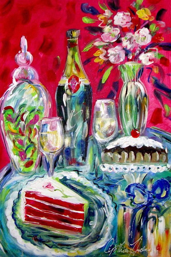 Cake Painting - Red Velvet Cake by Cynthia Hudson