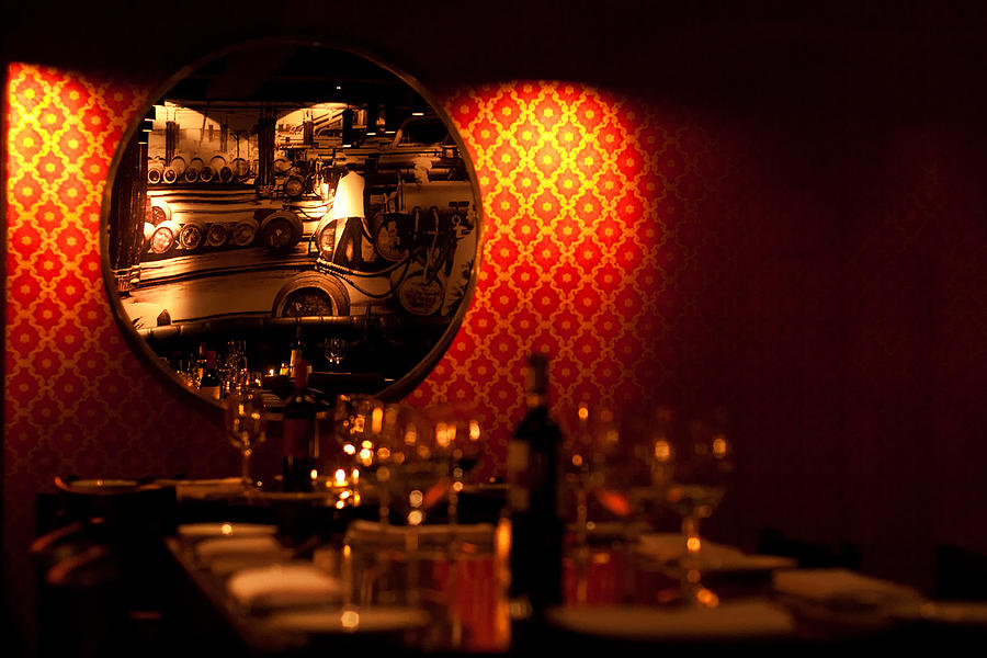 Red Photograph - Red Wall And Dinner Table by Jess Kraft