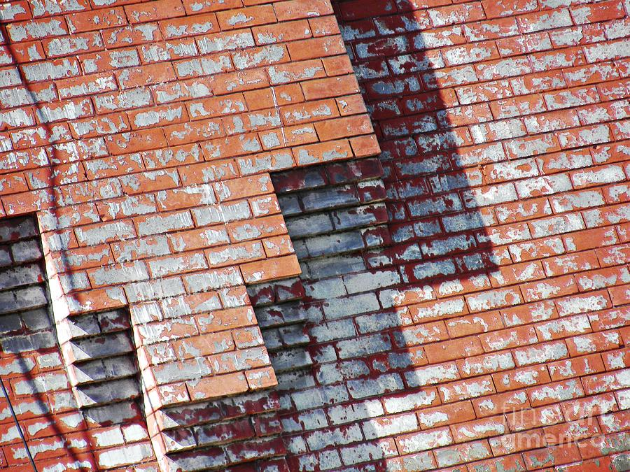 Wall Photograph - Red Wall by Sarah Loft