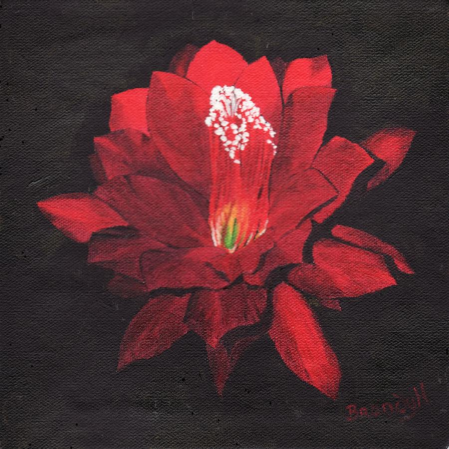 Oils Painting - Red Waterlily by Brandy House