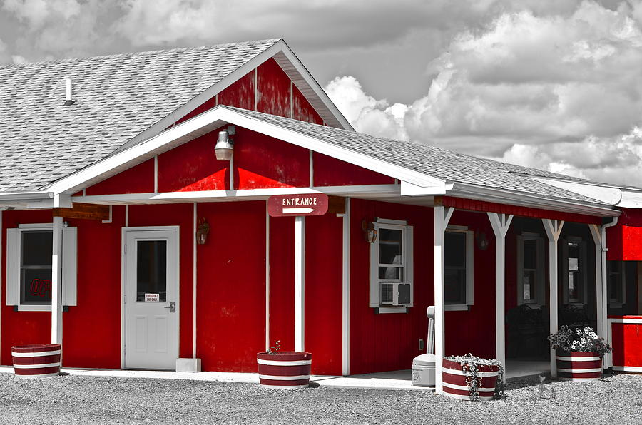 Red Photograph - Red White And Black by Frozen in Time Fine Art Photography