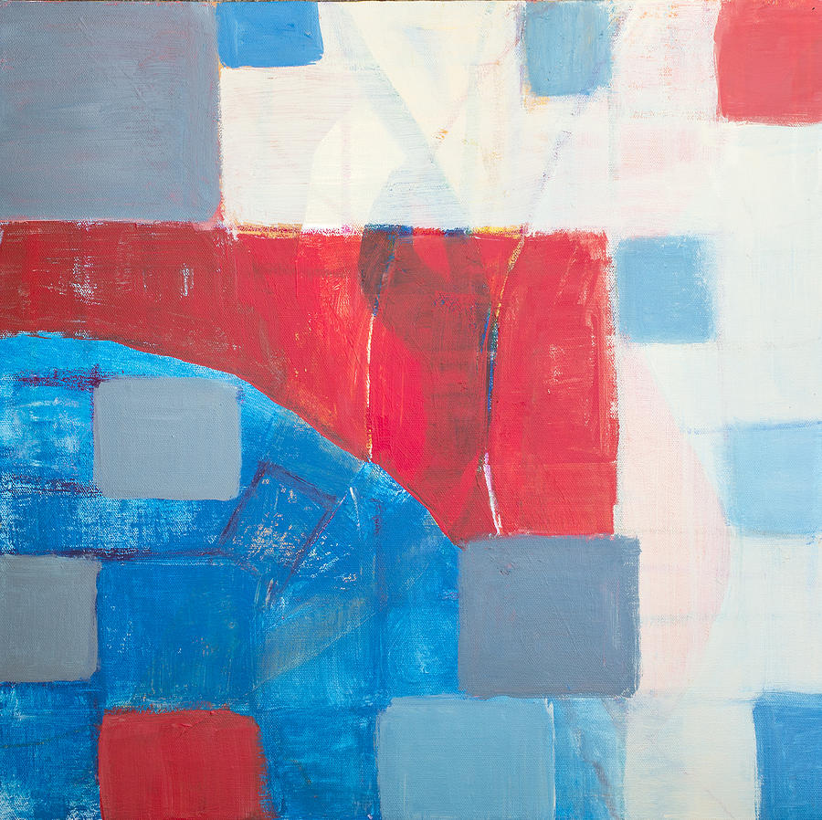 Red Blue Stone : Red white and blue digital art by susan stone