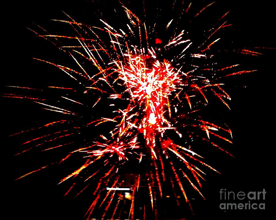 Fireworks Photograph - Red White by Shelia Kempf