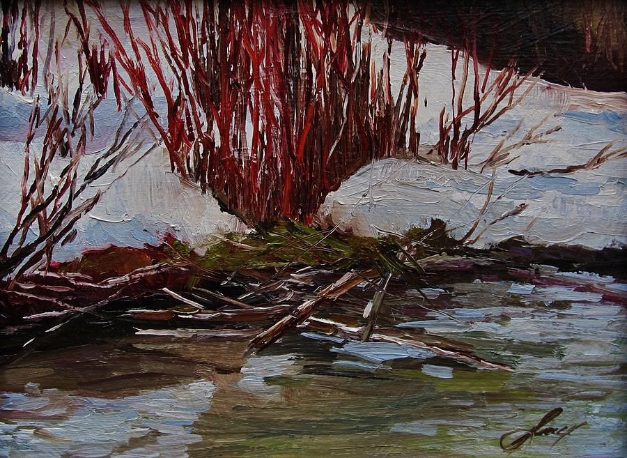 Nature Painting - Red Willows by Suzanne Tynes