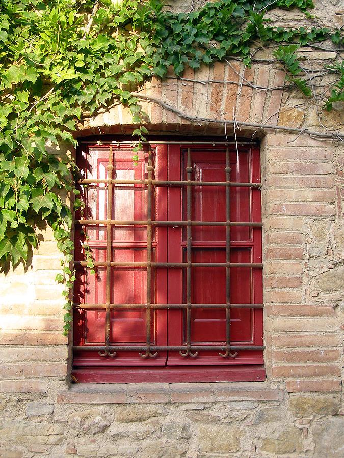 Architecture Photograph - Red Window by Carolyn Waissman