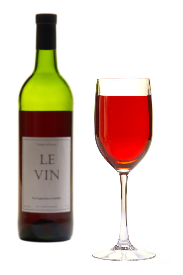Red Wine Bottle And Glass Photograph By Olivier Le Queinec