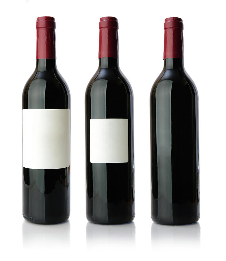 Red Wine Bottle Xxxlarge Photograph by Serts