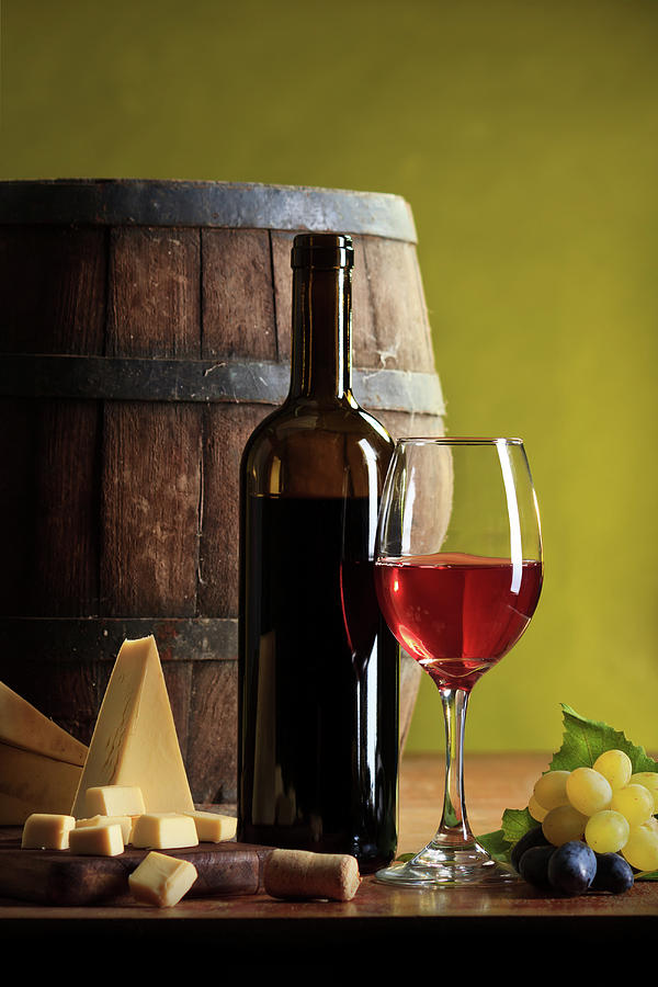Red Wine Composition Photograph by Valentinrussanov